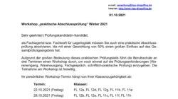Logistik-Workshops für Abschlussschüler Winterprüfung 2021/22